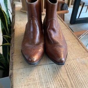 Vintage cowboy ankle boots